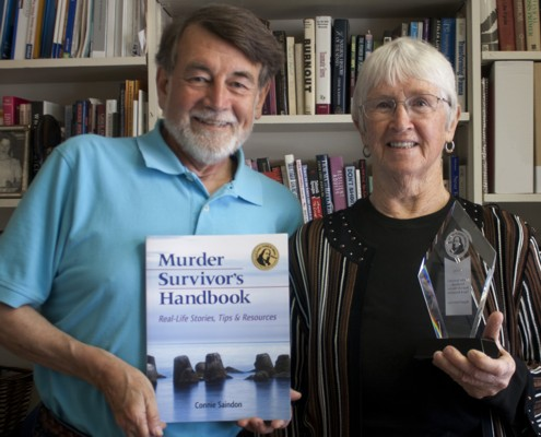 larry edwards, editor, connie saindon, author, Murder Survivor's Handbook: Real-Life Stories, Tips & Resources